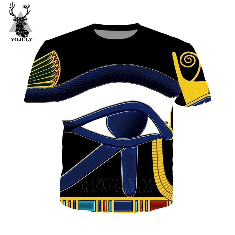 Egypt Horus eye 2019 summer Harajuku men women's T-shirt 3D printing streetwear shirt O-neck tees tshirt stranger things TOP A96
