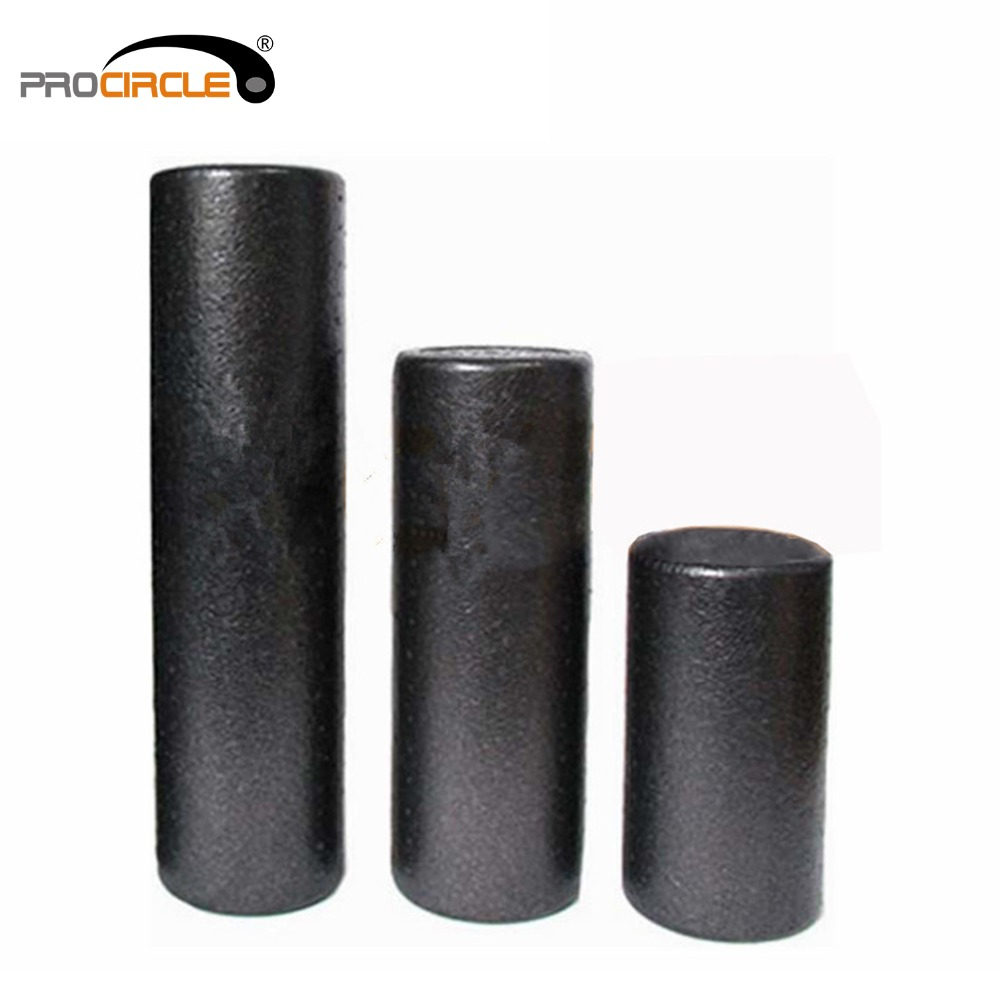 ProCircle High Density EPP Foam Roller for Muscle Relaxation and Physical Therapy, Black, 30cm 45cm 60cm 30cm 15cm electric vibration eva foam roller floating point fitness massage roller 3 speed adjustable for physical therapy