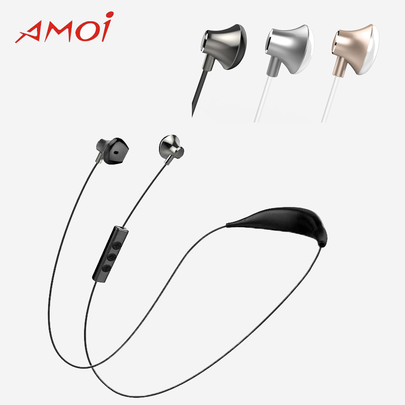 Amoi Bluetooth Wireless X19C Headset with Bluetooth 4.1V CVC For Samsung S9 S9+S9 Plus Airpods Noise Reduction Sport Earphone цена