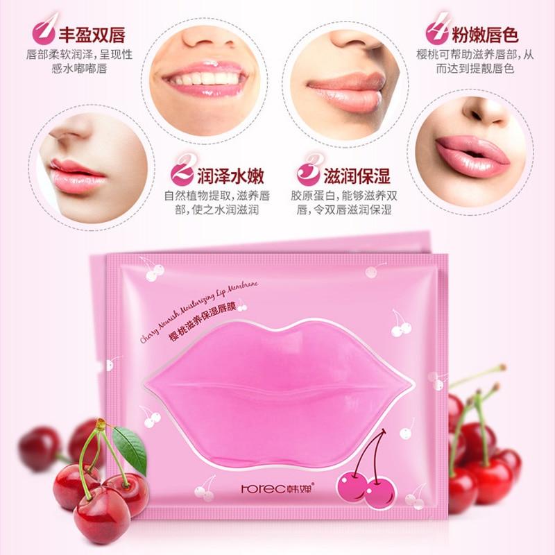 Beauty Pink Collagen Lip Mask Care Gel Mask Membrane Moisture Essence Anti-Ageing Crystal Pads Lip Membrane Lips Skin Care 1