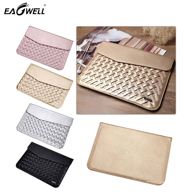 Weaving PU Leather Luxury Case For Macbook Air Pro retina 11