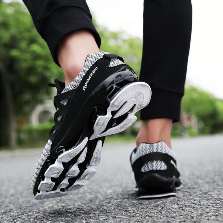 Acampamento Ar Ao Esportes Plus Casuais Respirável Size Sapatos Black Caminhada De red Flyknit Dos 39 47 grey Lâmina Tênis Livre Homens Sycatree xZt6Px