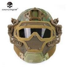 Emerson G4 система/комплект PJ шлем с общей защиты стекло маски Многофункциональный Тактический Airsoft шлемы с очки $