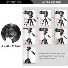 Professional Portable Travel Aluminum Camera Tripod