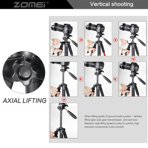 Image 5 - Zomei Q111 プロフェッショナルポータブル旅行アルミカメラ三脚 & なべ一眼レフデジタルカメラの 3 色
