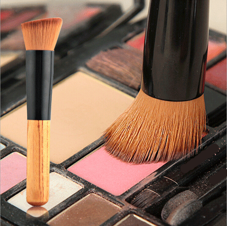 Pro Quality Flat Angled Foundation Brush Makeup Foundation Powder Brush Flawless Silky Studio Brush Make up Face Look Tool top quality foundation brush angled makeup brush