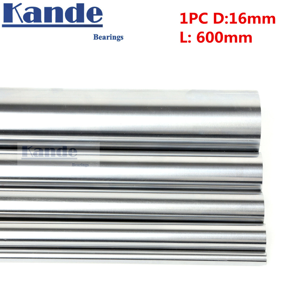 1pc d:16mm 600mm 3D printer rod shaft 16mm linear shaft chrome plated rod shaft CNC parts Kande kande bearings 1pc d 16mm 3d printer rod shaft 16mm linear shaft 230mm chrome plated rod shaft cnc parts 100 700mm