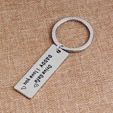"Creative Keychain Men Key Ring Letter ""Drive Safe Daddy I Love You"" Father's Day Keyring Gifts for Daddy Father"