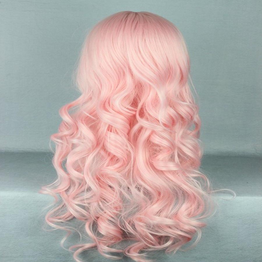 HAIRJOY Synthetic Hair Zipper 70cm Long Wavy Harajuku Lolita Cosplay Wig 18 Colors Available 89