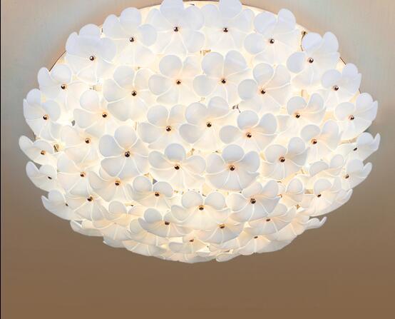 atmosphere remote control Romantic master bedroom lamp wedding room modern minimalist garden room ceiling living room LED lamp