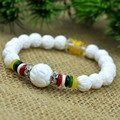 Lucky lotus style prayer beads 8mm gem bracelet bracelets for women natural white marine tridacna men bracelet 0282