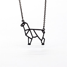 Купить с кэшбэком 4 Colors Origami Alpaca Necklace Origami Alpaca Charm Female and Male Gift Necklace Fashion Women Jewellery Geometric Jewellery