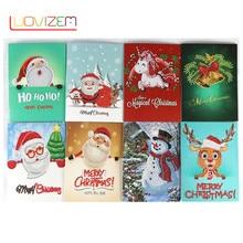 Christmas Gift Diamond Painting Cartoon Embroidery Santa Greeting Postcard Craft DIY Childrens Holiday Card