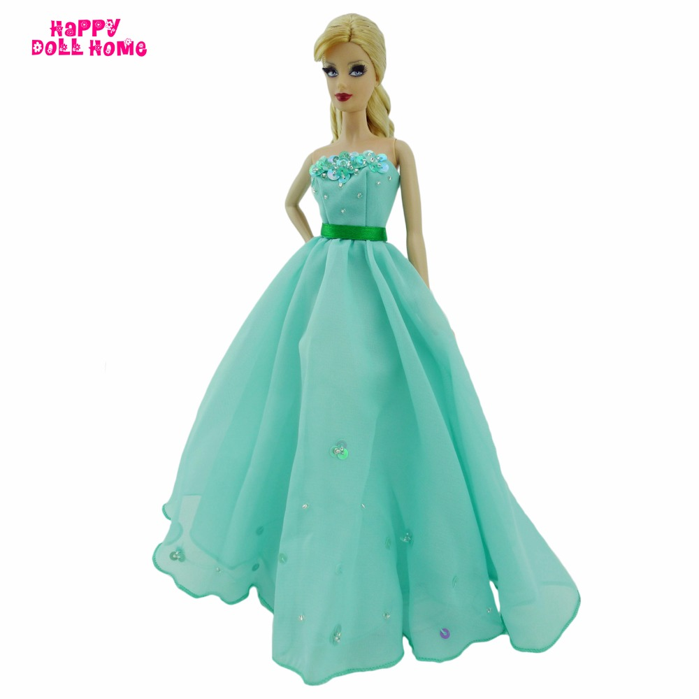 Strapless Princess Gown Wedding Dinner Party Dress Dollhouse Costume ...