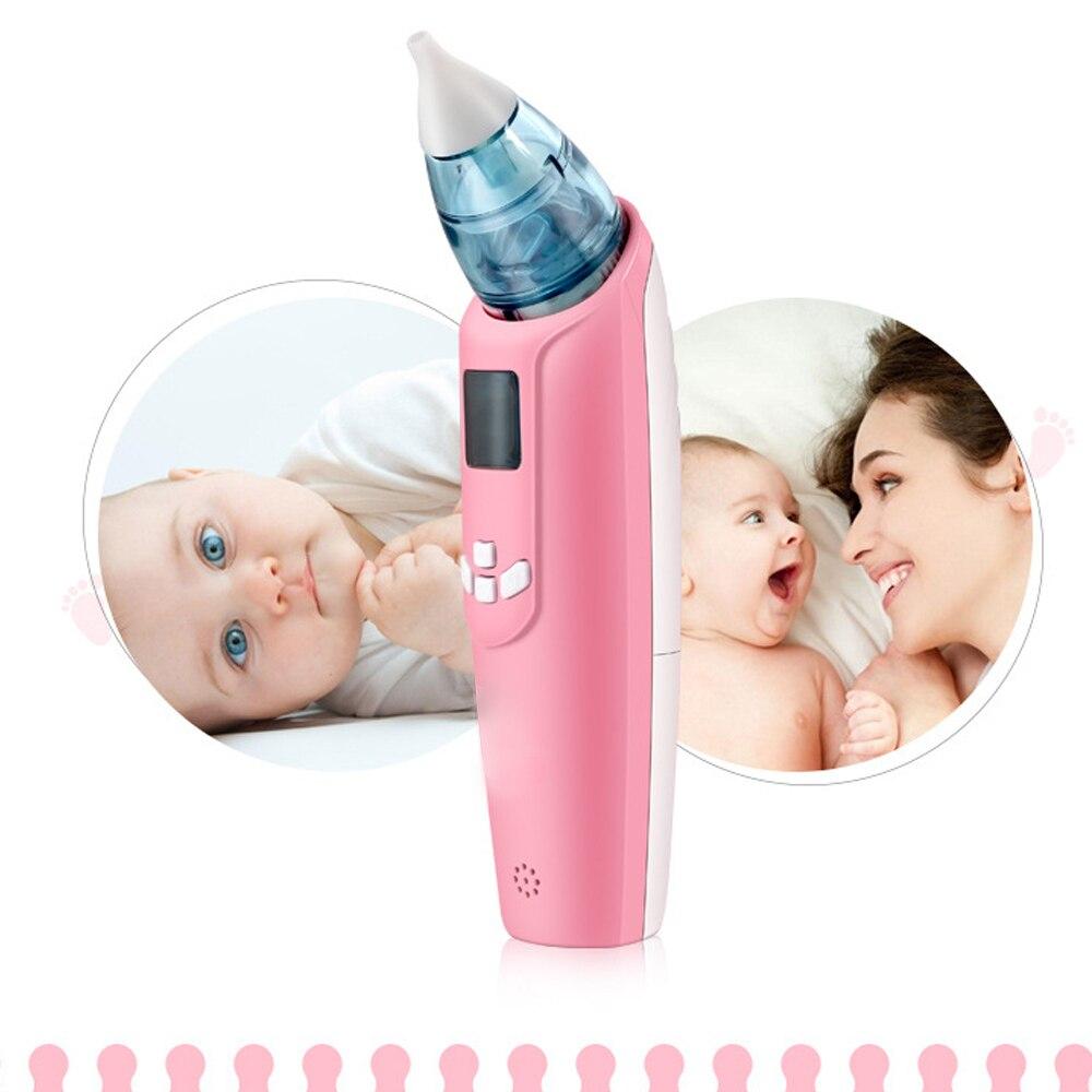 Aspirateur Nasal électronique certifié CE FDA pour bébé de 1 à 5 ans, deux sondes de Type pour nettoyer le nez facilement