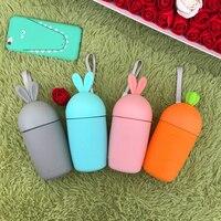 Originality Children Kid Water Bottle Drinkware Glass Cup Carrot Design Cute Heat Preservation Vacuum Flask Ccented