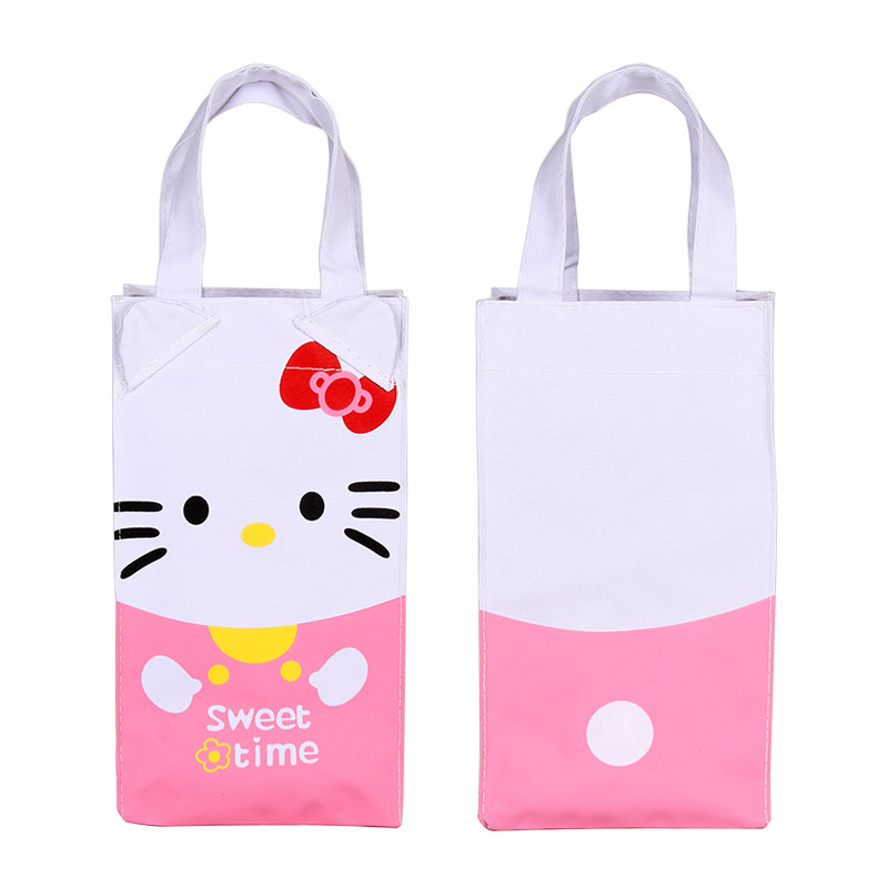 Cartoon Beverage Bottle Storage Bag Children Student Handbag Waterproof Milk Watter Bottle Holders Storage Bags 2D