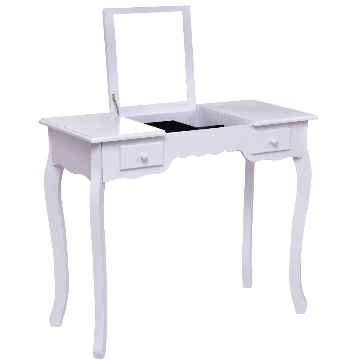 Vistoso Heces De Color Blanco Para Muebles De Tocador Regalo ...