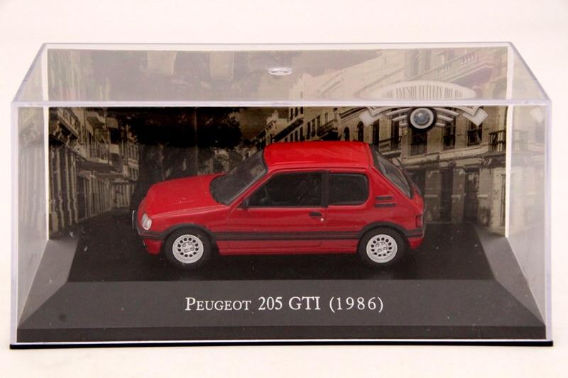 ixo altaya 1 43 scale peugeot 205 gti 1986 cars diecast. Black Bedroom Furniture Sets. Home Design Ideas