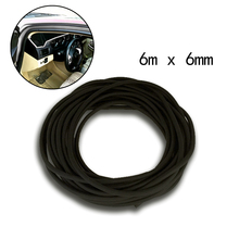 Universal 6mm O Shaped Filler Strip Car Door Weatherstrip Rubber Edge Seal Black Tailgate Pillar Air Sealed
