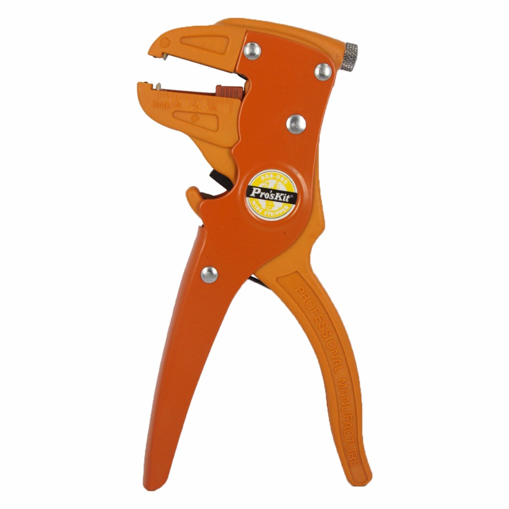 Free Shipping Pro'skit 808-080 Multifunctional automatic stripping pliers Cable wire Stripper Crimping tools Cutting Tools