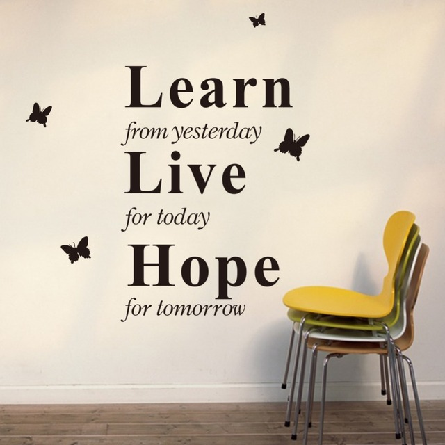 Inspiring Quotes Learn Yesterday Live Today Hope Tomorrow Butterfly