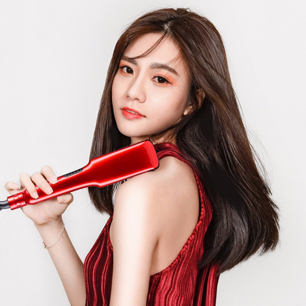 Professional Hair Straightener Ceramic Hair Iron Electric Hair Straightening Tools Personal Salon Hair Styling Tools new 110 240v kemei ceramic hair straightener temperature control heating flat iron professional straightening iron styling tools