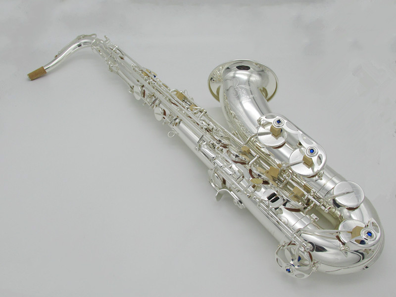 High Quality Professional YANAGISAWA TWO20 Bb Tenor Saxophone Brass Silver Plated Music Instrument Sax With Case, Gloves musical instruments yanagisawa t wo37 tenor saxophone bb tone nickel silver plated tube gold key sax with case mouthpiece gloves