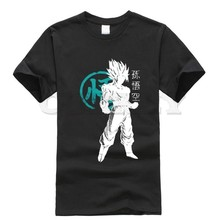 2019 new T-shirt Print Dragon Ball Large size vegeta Black And White Summer dress men tee Cotton cos play Retro