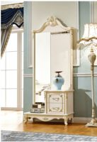 luxury furniture French Dressing table Mirror For Bedroom Set penteadeira mesa dormitorio toaletka