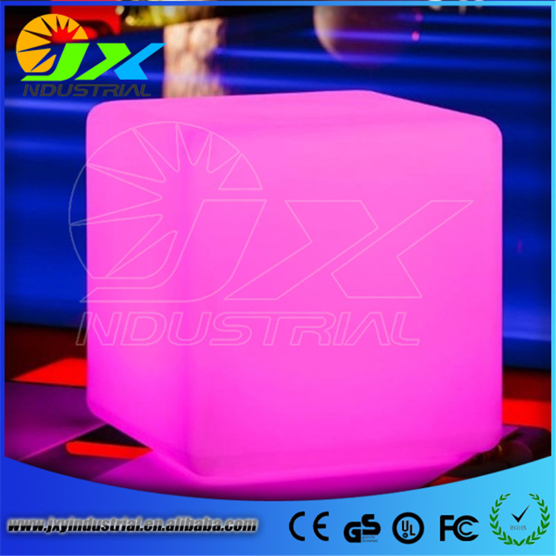 40CM100% unbreakable led Furniture chair Magic Dic Remote controll square cube luminous light for variety of occasions
