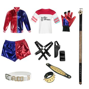 New Adult Cosplay Harley Quinn Ladies Costume Full Set Suicide Squad Cosplays Accessories Party Halloween Costumes 1