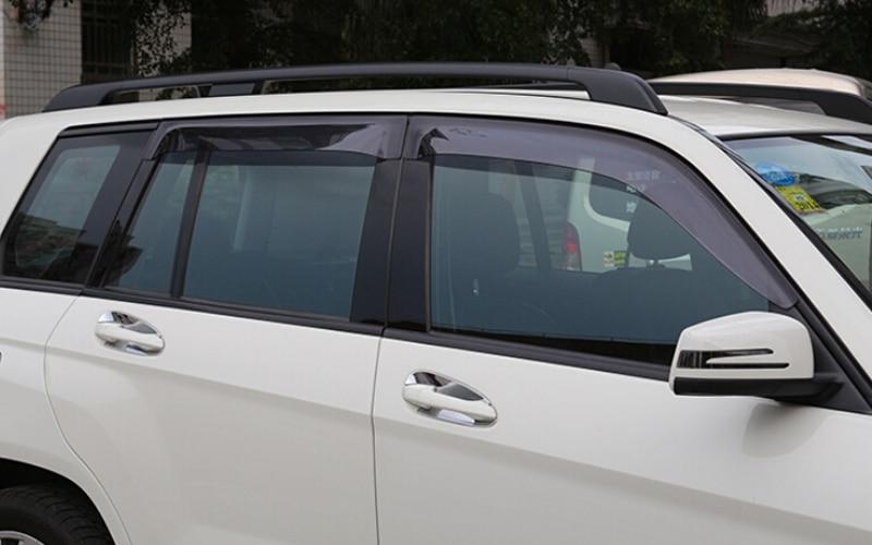 4*/ комплект внешнего пластика автомобиля окно козырек вентиляционные тень окно солнце дождь охранник для Мерседес Бенц мл W166 2012 2013 2014 2015