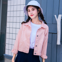 9 Colors Female Denim Jacket Fall Fashion Solid Jean Jackets Women Casual Long Sleeve Coat Women BF Wind Candy Color Blouson