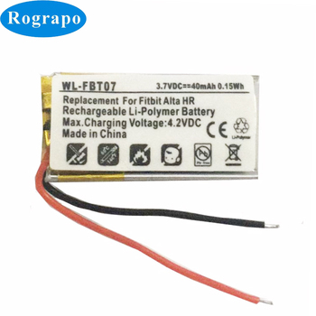 New Li-ion Polymer 40mAh Replacement Battery For Fitbit Alta HR AltaHR Batteries Accumulator 2-wire battery for xiaomi mi band 2 wristband li polymer rechargeable accumulator pack replacement 3 7v with 2 lines