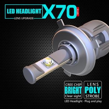 Bombilla de faro LED h4 de gran oferta, 2 uds., 15600lm, h4, 120 w, 12 v, haz bajo alto, 6000 k, color blanco para coche
