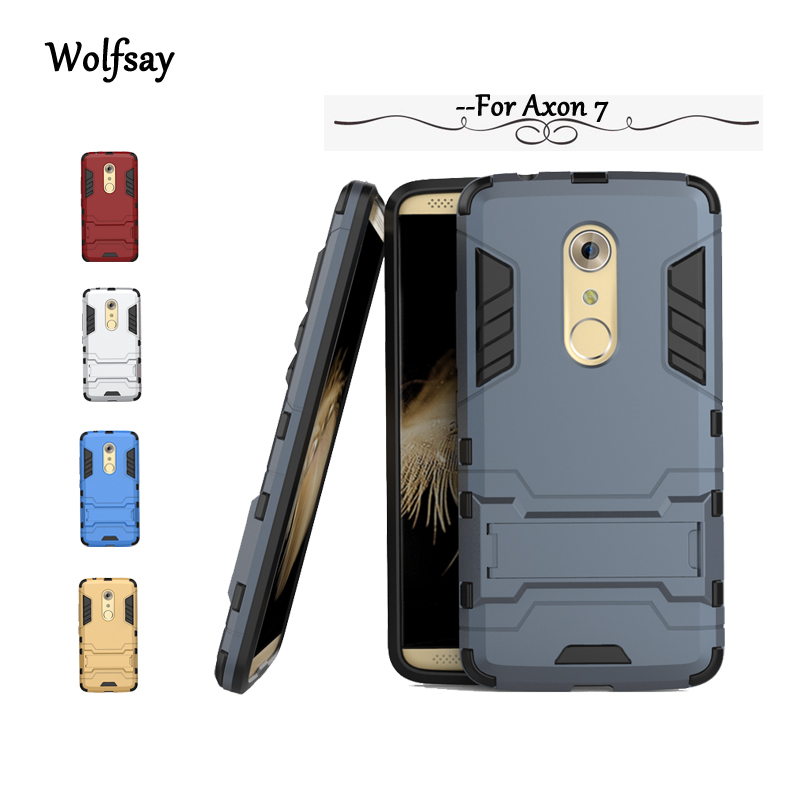 san francisco d3a9f 1aefe Wolfsay For ZTE Axon 7 Case Slim Robot Armor Kickstand Shockproof Rubber  Case For ZTE Axon 7 cover For ZTE Axon 7 Fundas !<-in Fitted Cases from ...