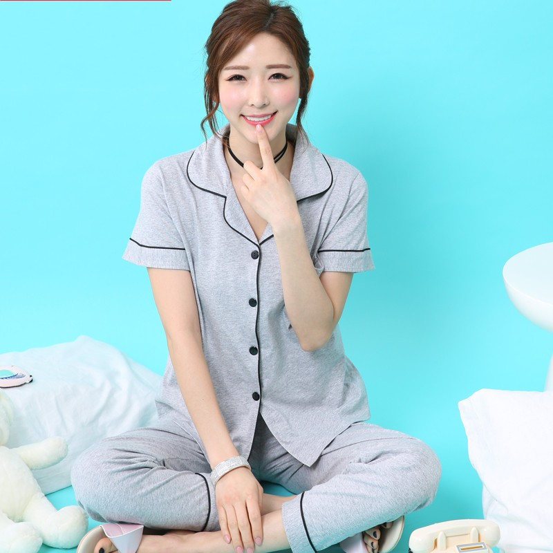 tops Summer large big size 4XL sleepwear women's summer 100% cotton short sleeve pants thin plus size lounge Pajama Sets