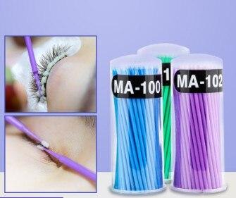 2000pcs/lot Plastic Semipermanent Tattoo Use Cotton Swabs L/M/S Eyelash Grafting Tampon Beauty & Health HA525