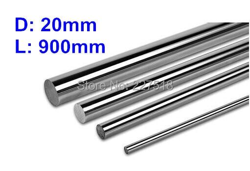 1pc 20mm - L900mm linear round shaft harden rod