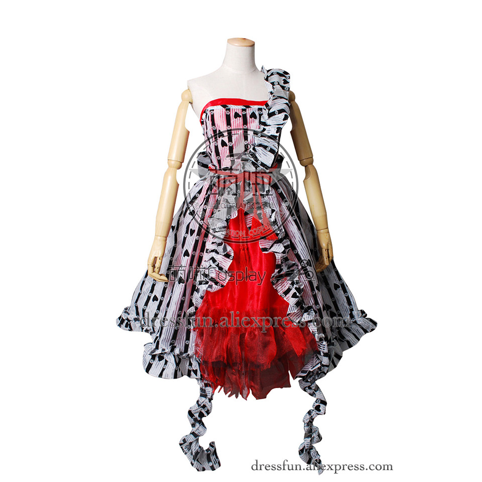 Alice In Wonderland Cosplay Alice Costume Alice's Um Red Court Dress Beautiful Party Halloween Fast Shipping