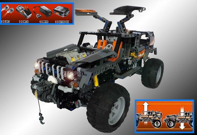 New RC track Technic OFF ROADER fit legoings technic car Electric Motors Power fuction city Building Blocks bricks 8297 kid gift