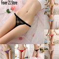 New Fashion Women Sexy T- Back Transparent Lace Panties Thongs Low Waist Seamless Summer G-string