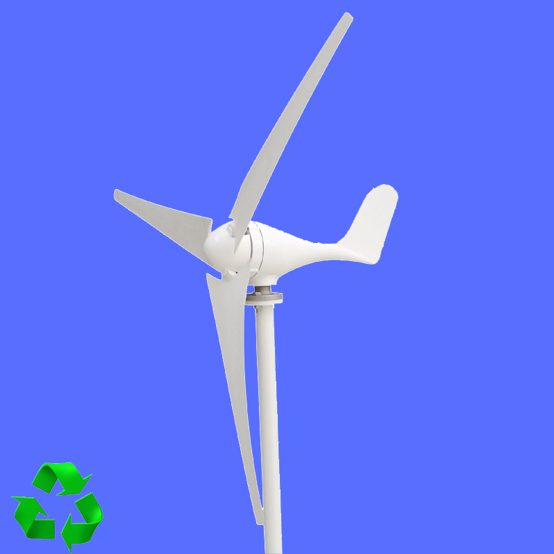 100W Wind Turbine Generator 12V/24V 2.0m/s Low Wind Speed Start,3/5 blade 550mm ,with Charge Controller 800w wind turbine generator 24v 48v 2 5m s low wind speed start 3 blade 1050mm with ip 67 charge controller