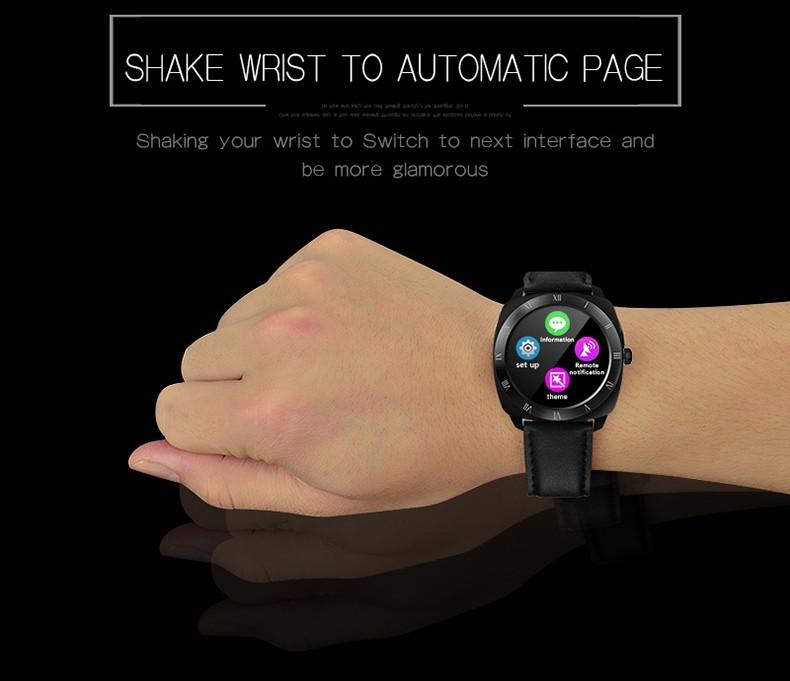 ถูก SunKinFon DM88บลูทูธหุ่นยนต์ดูสมาร์ทS Mart W Atchกันน้ำอัตราการเต้นหัวใจอิเล็กทรอนิกส์สมาร์ทดูเตือนกล้องสำหรับiPhone