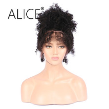 ALICE 150 Density 360 Lace Front Wig With Baby Hair Bleached Knots 10-22 Inch Brazilian Virgin Hair Kinky Curly Wig Average Cap