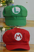 Hight quality cotton super mario Luigi hat green red anime cosplay cap sun hats baseball women