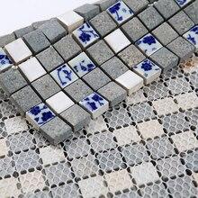 Керамическая Сине-белая печь мозаичная плитка, кухня Backspash плитка ванная комната настенная плитка, напольная керамическая плитка