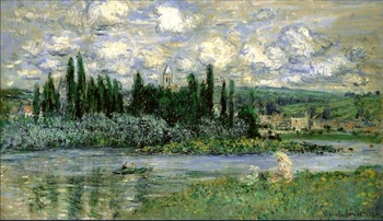 High quality Oil painting Canvas Reproductions Vetheuil (1880)454 By Claude Monet hand painted