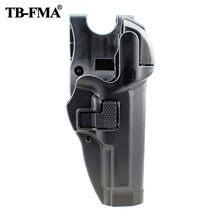 Fma coldre tático nível 3 retenção de bloqueio automático pistola arma coldre mão direita cinto loop para beretta 92/96 m9 m92